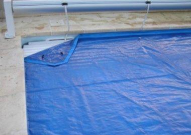 Filet/bâche volet piscine extérieur